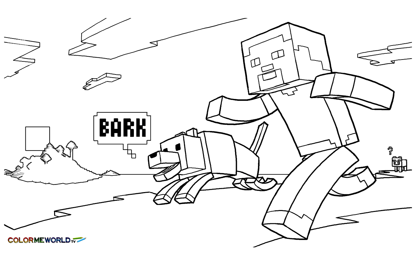 Coloring For Kids Minecraft 71066 Authenticgames