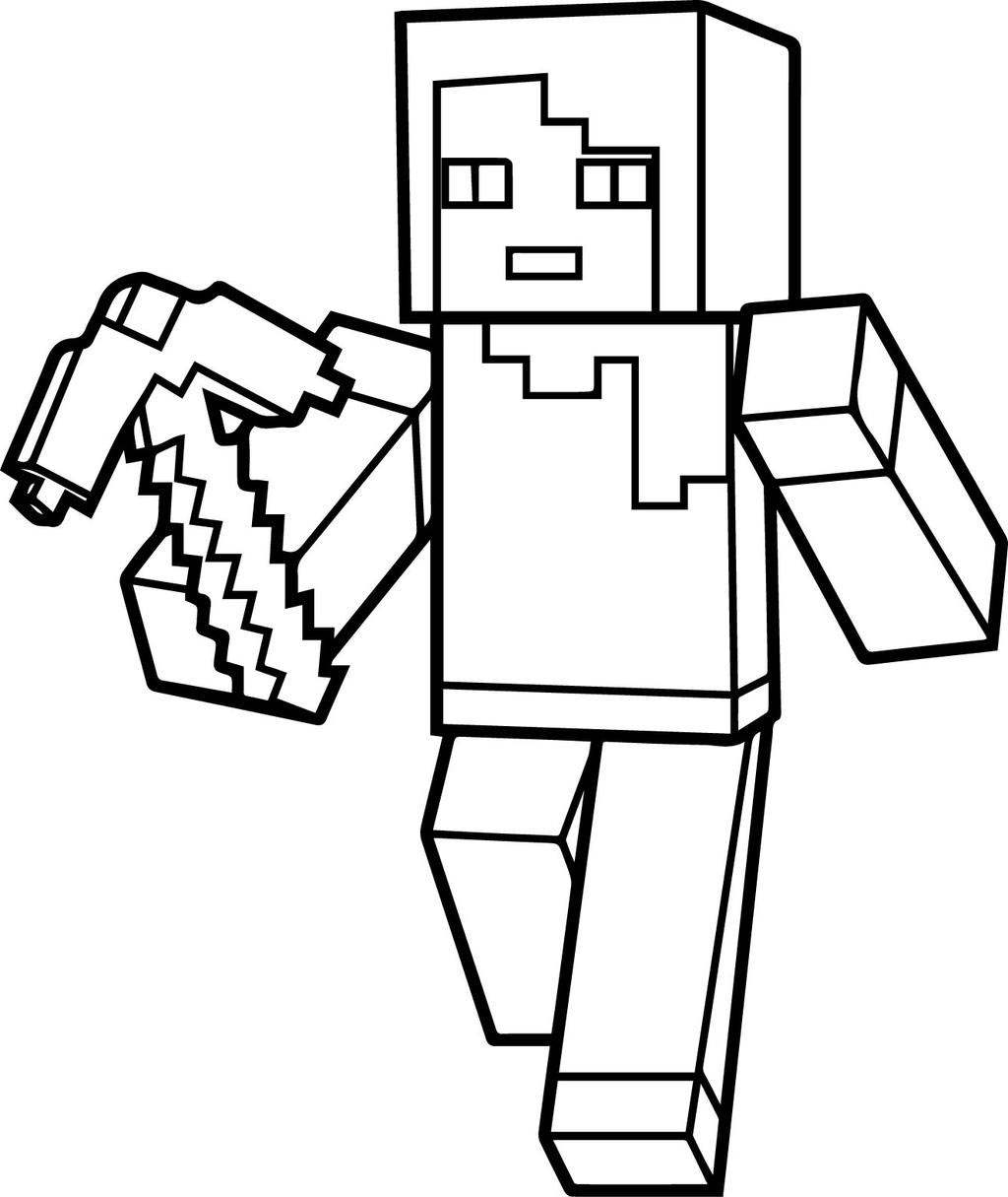 Minecraft Coloring Pages Juve Cenitdelacabrera Line Drawing