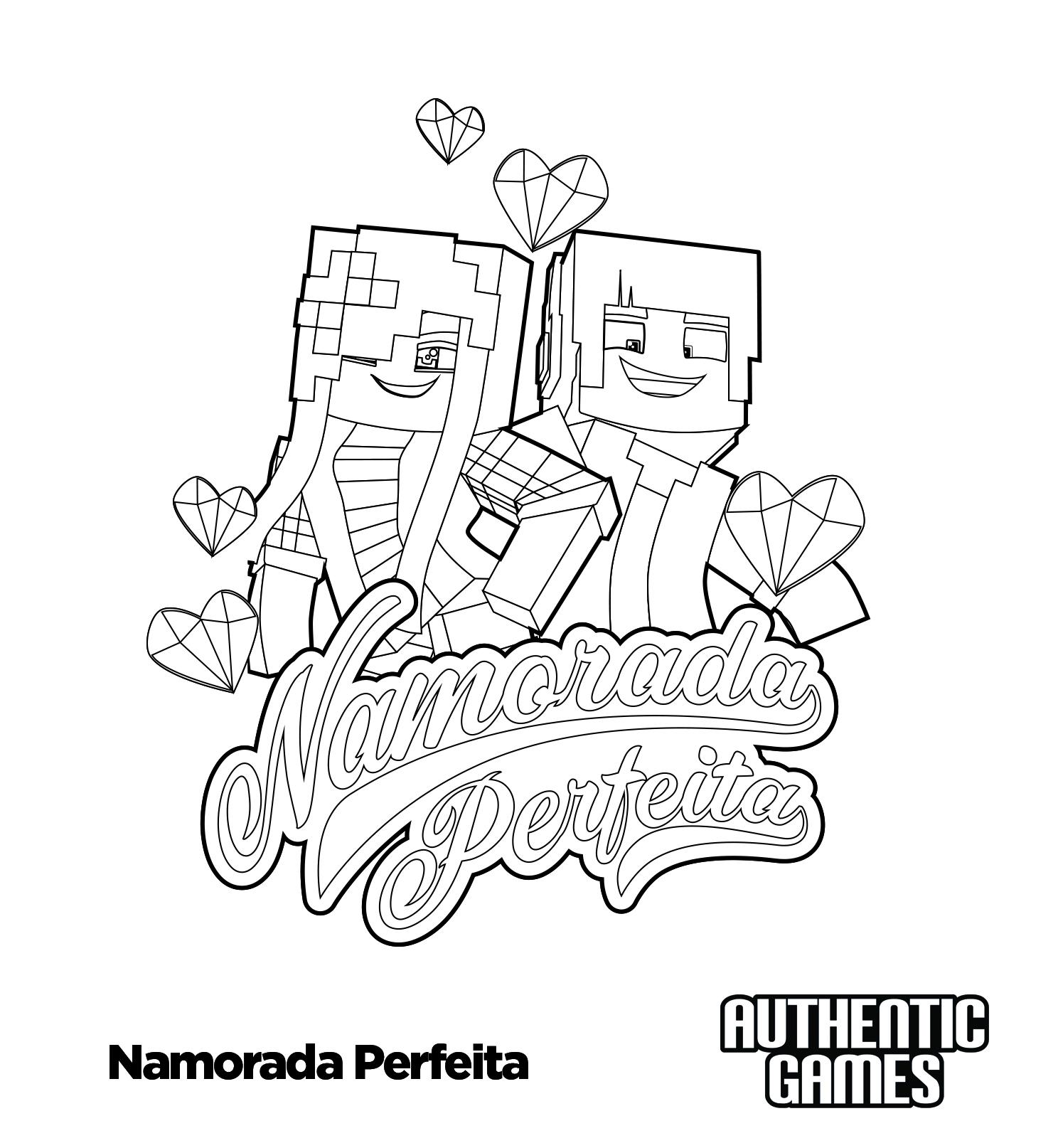 Namorada Perfeita Para Colorir Authenticgames