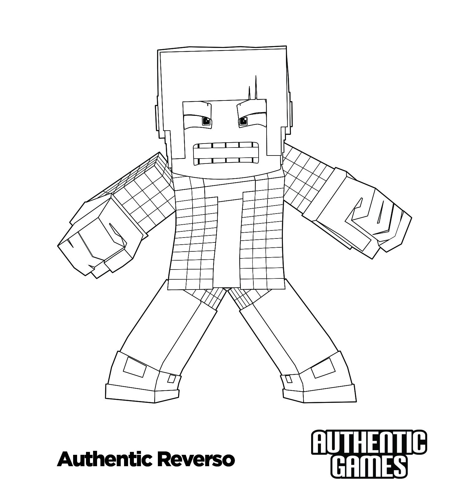 Reverso Para Colorir Authenticgames